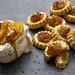 Roasted pineapple, coconut meringues and rum cream; and pineapple tarts by danlepard