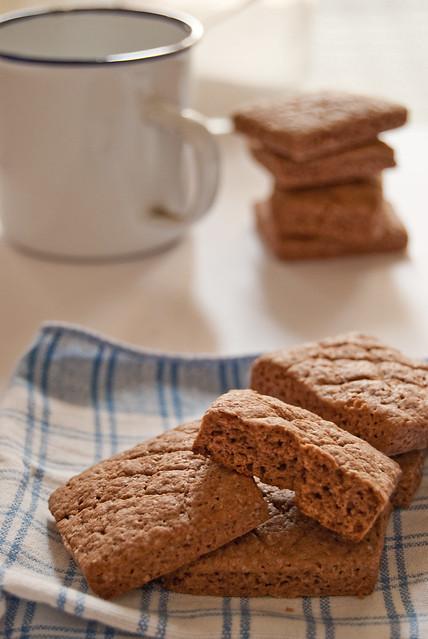 Biscotti olio cacao e avena