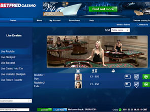 Betfred Live Dealers