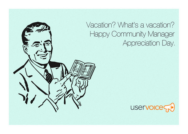 Vacation - Community Manager Appreciation Day ecard