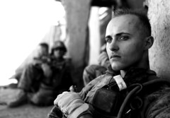 [Free Images] Wars, Soldiers, American Forces, Black and White ID:201201260000