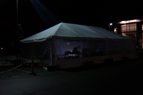 New temporary campus food service tent by christopher575