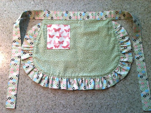 Reversible little girl's apron view 1 by HeatherEndearing