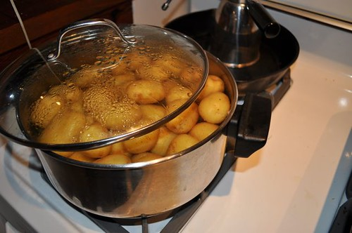 potatoes roasted in garlic, butter & olive oil 3