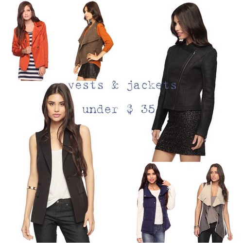all vest & jackets by forever 21