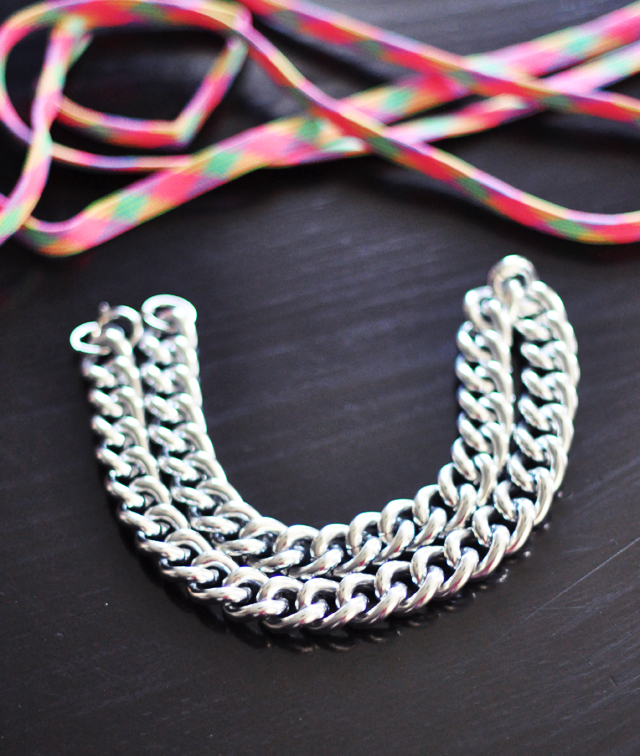 neon chain necklace diy-2