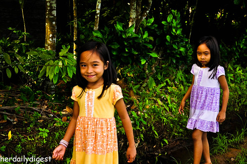 Jaymieh and Paula, the lovely twin sisters leading Kuya and Ram to the rice paddy
