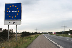 Driving into Scotland after 2014