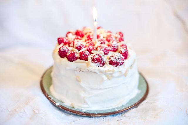 Raspberry Almond Birthday Cake | Flickr - Photo Sharing!