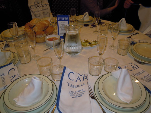 Madrid | Casa Carola | La mesa nos da la bienvenida
