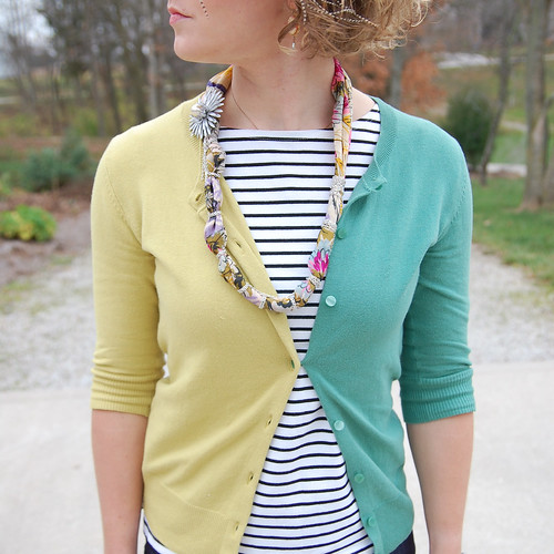 DIY Two-Tone Cardigan