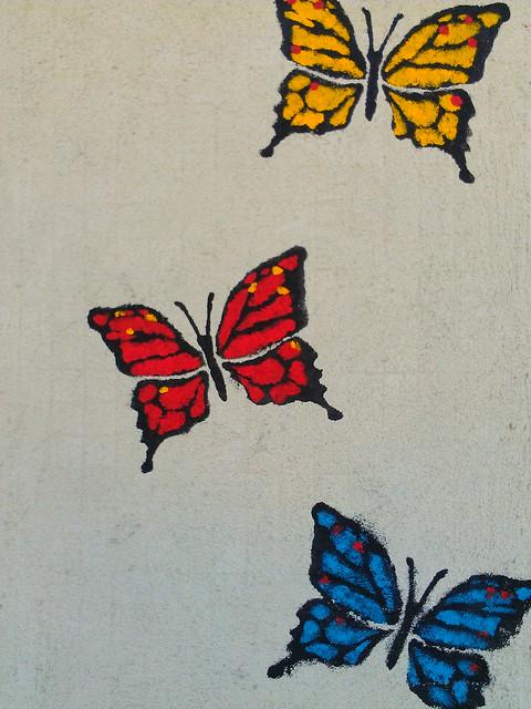 3 Butterflies - Leichhardt, Sydney Street art