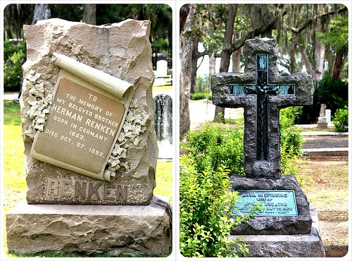 gravestones at bonaventure cemetery in savannah georgia