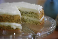 Lemon Poppy Seed Cake with Lemon Cream Cheese Frosting