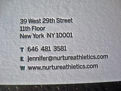 Nurture Athletics Business Cards