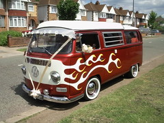 FlameBus009 flame vw bus