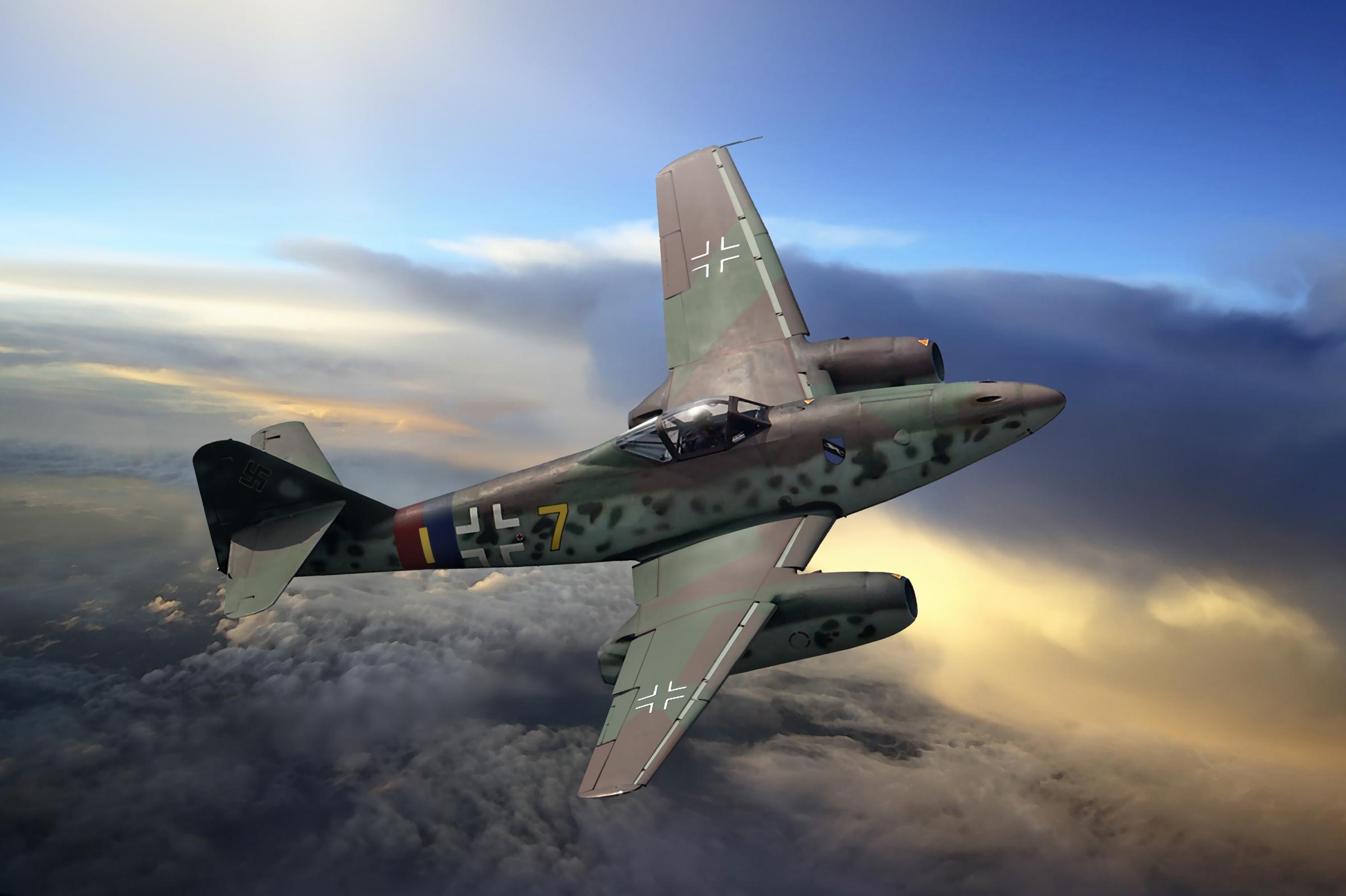 рисунок Истребитель Me-262