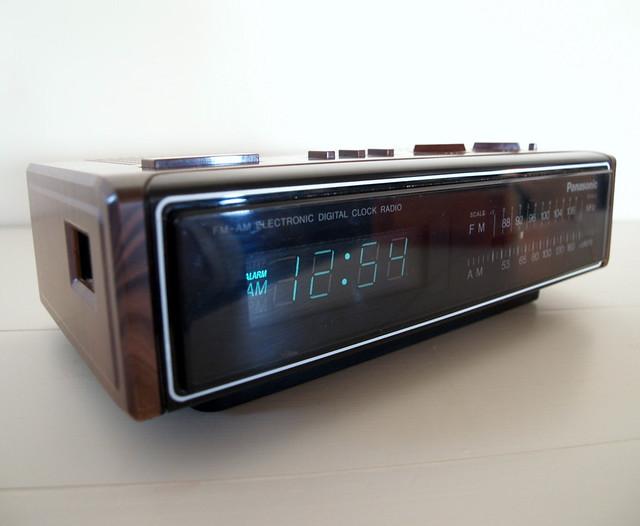 vintage panasonic clock radio japan circa 1983 flickr photo sharing. Black Bedroom Furniture Sets. Home Design Ideas