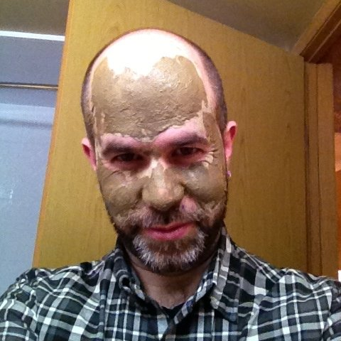 aidan in a mud mask 1