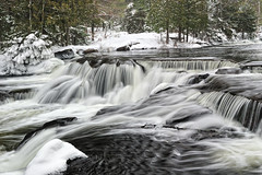 Winter at Bond Falls ~ Upper Bond Falls ~ Paulding, Michigan by Michigan Nut