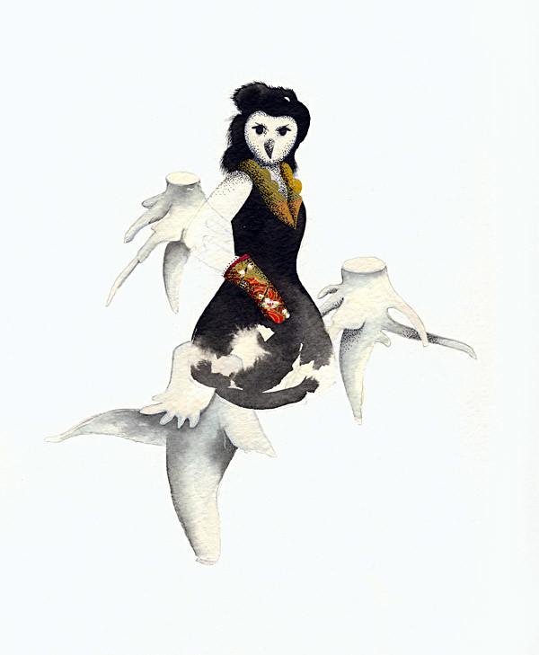 Humanimal - Owl lady v.01 :: Dame hibou