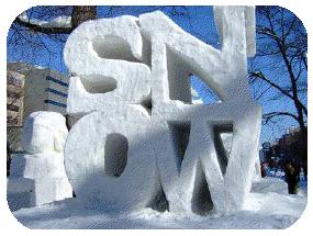 Pioneer Square Snow Sculptures - Portland