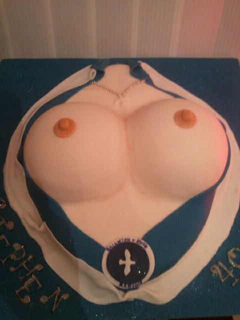 Brighton Seagulls Boobs Cake
