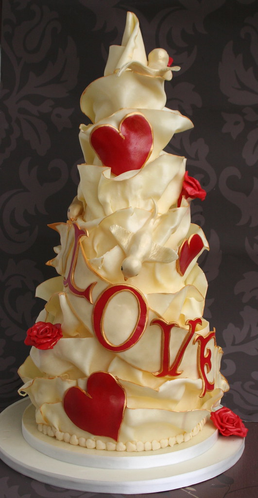 White Chocolate 'Love' Wedding Cake - a photo on Flickriver
