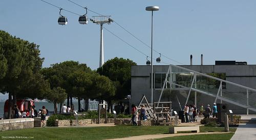O teleférico nota-se em quase todo o lado do Parque.