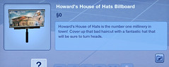 Howard's House of Hats Billboard
