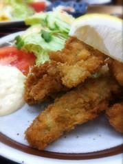 今日のランチはカキフライ定食。¥950 #lunch