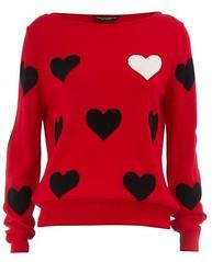 Red big heart jumper