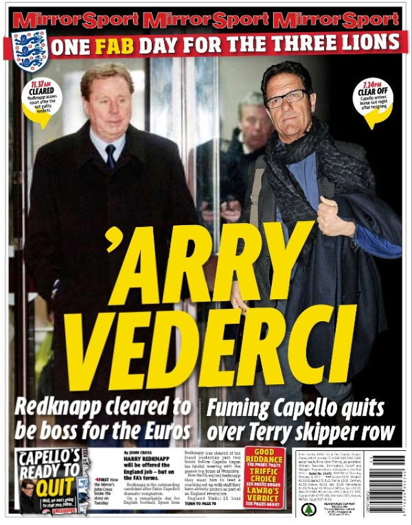 6843576605 84bb230501 b Picture Special: Capello Out, Redknapp In