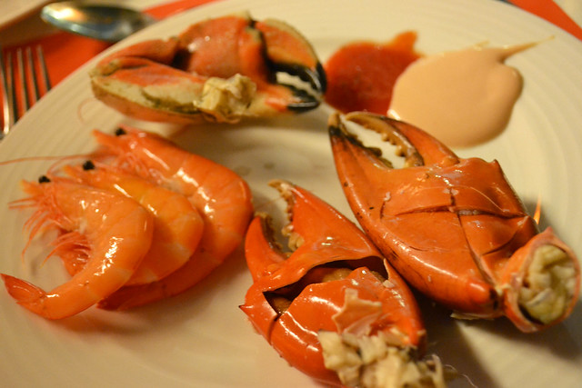 Cold Crab Claws and Prawns, The Line, Shangri-la Hotel
