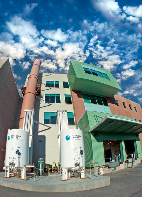 The Radiological Laboratory and Utility Office Building (RLUOB) portion of the Chemistry and Metallurgy Research Replacement project (CMRR) at Los Alamos National Laboratory.