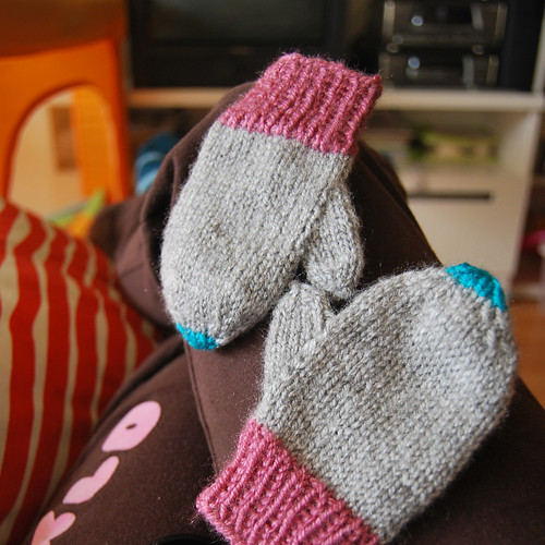 guantes bebé baby mittens knit