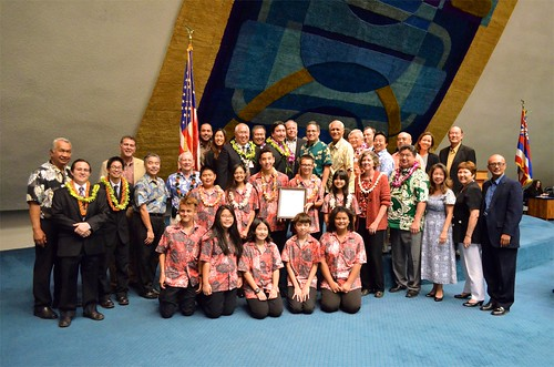 Niu Valley Middle School Band Honored