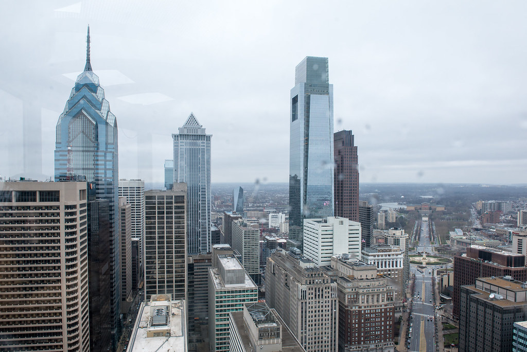 Philadelphia. A view from the top of city hall