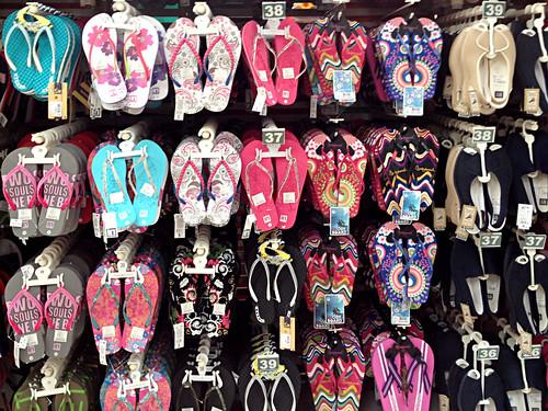 Sandals, flip flops, cholas