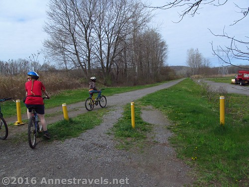 The start of the Rochester, Syracuse & Eastern trail at Pannell Road, Fairport, NY