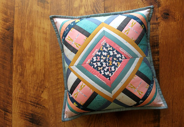Criss Cross Diamond Star Pillow