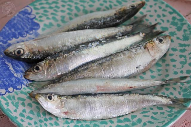 Tostas Salmorejo, sardinas marinadas y caviar de aove www.cocinandoentreolivos.com (1)