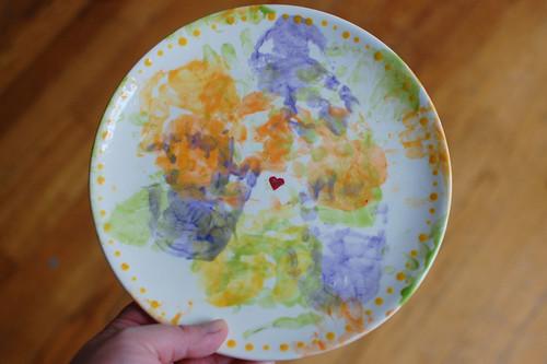 Elliora's handprint plate