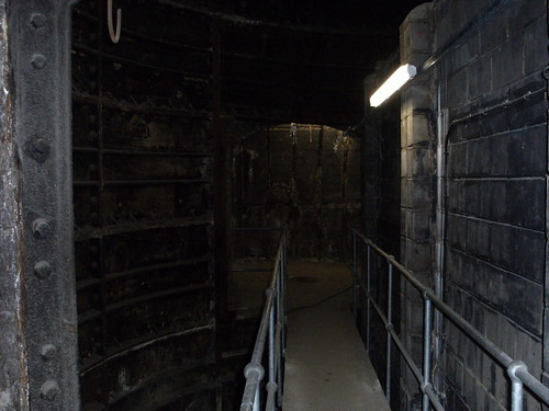 Bottom of the centre lift shaft by pencefn