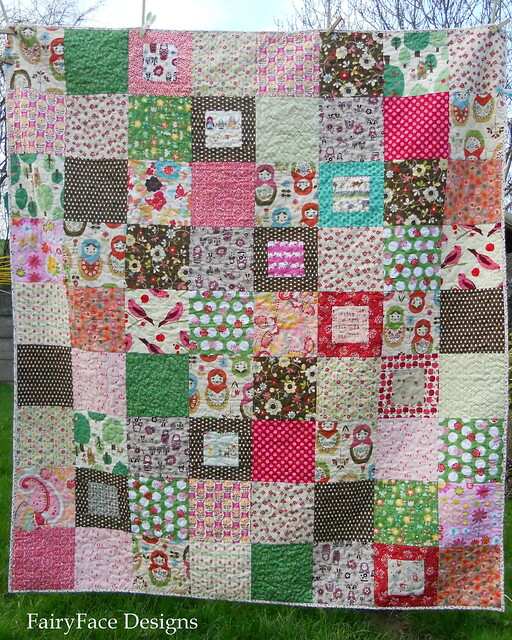 Matryoshka quilt front full view