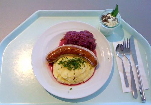Thüringer Bratwurst & Blaukraut