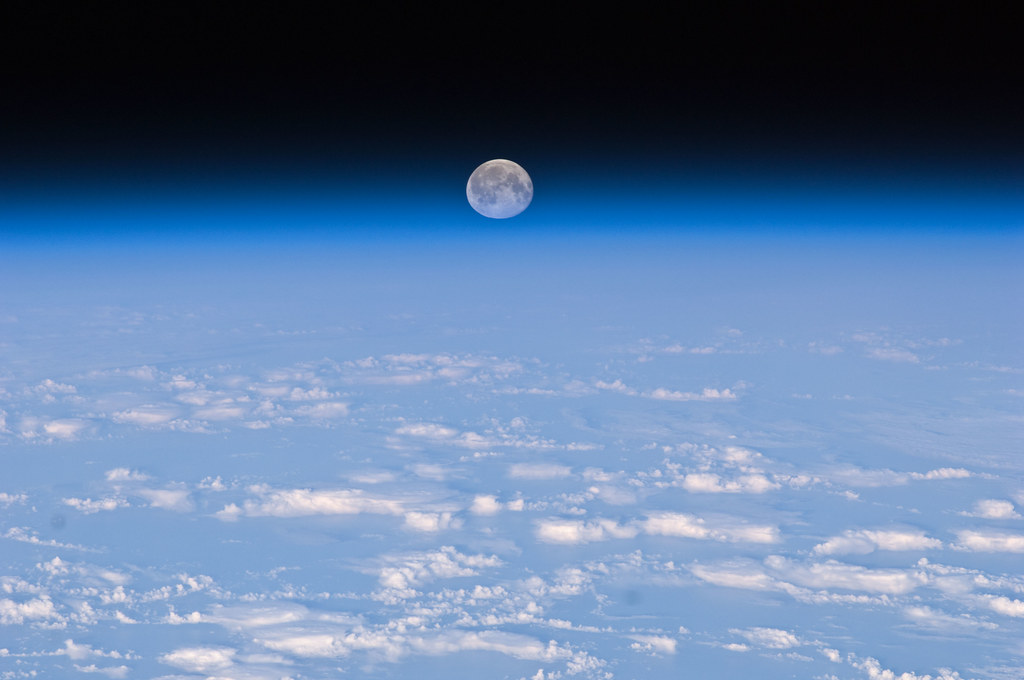 Full Moon Over Earth (NASA, International Space Station, 11/11/10)