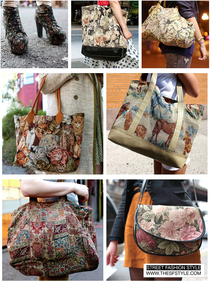 tapestry bags street fashion style