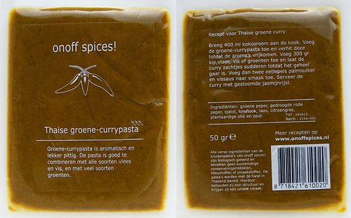 Groene currypasta van On/Off Spices