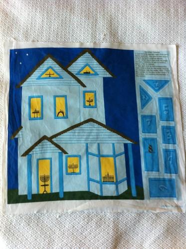 Hanukkah calendar fabric
